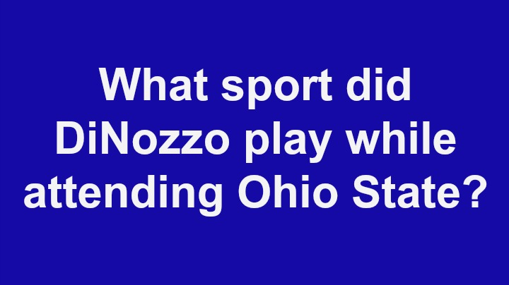 5. What sport did DiNozzo play while attending Ohio State?