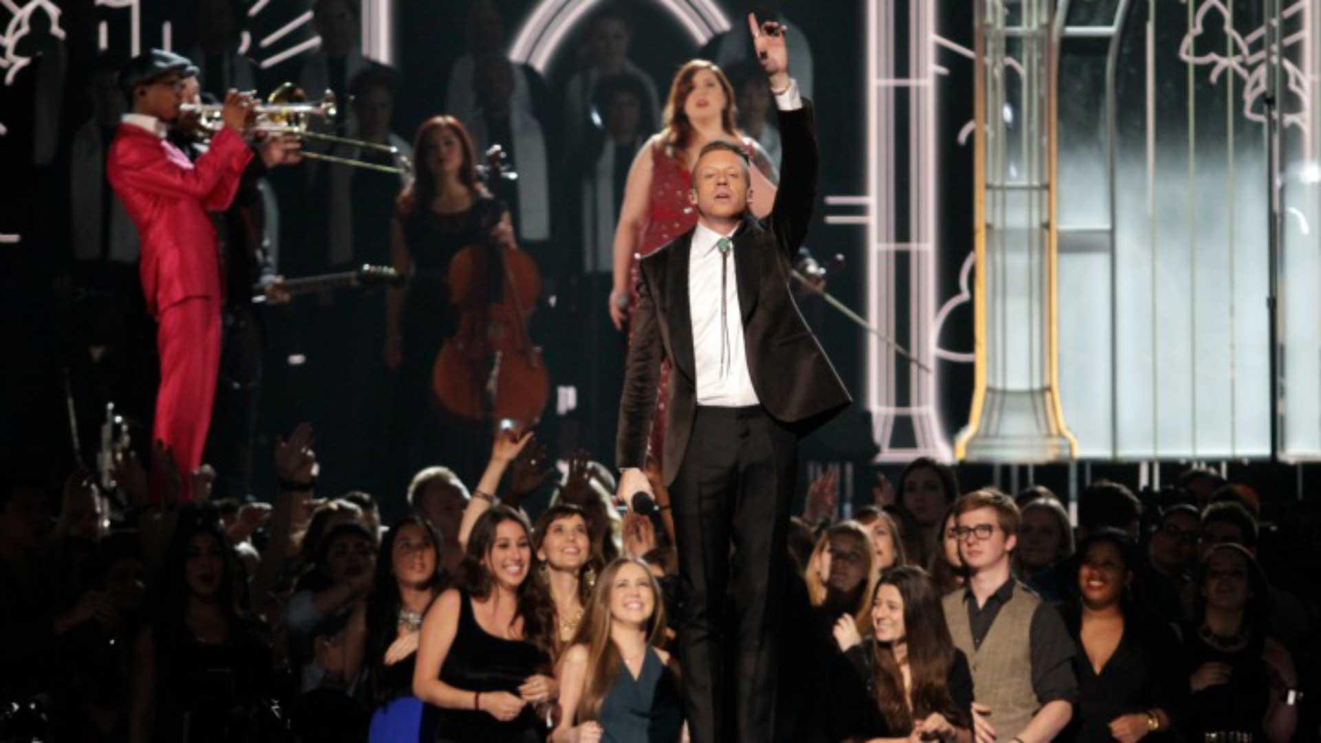 Macklemore & Ryan Lewis, Mary Lambert, Queen Latifah, Madonna, and Trombone Shorty perform