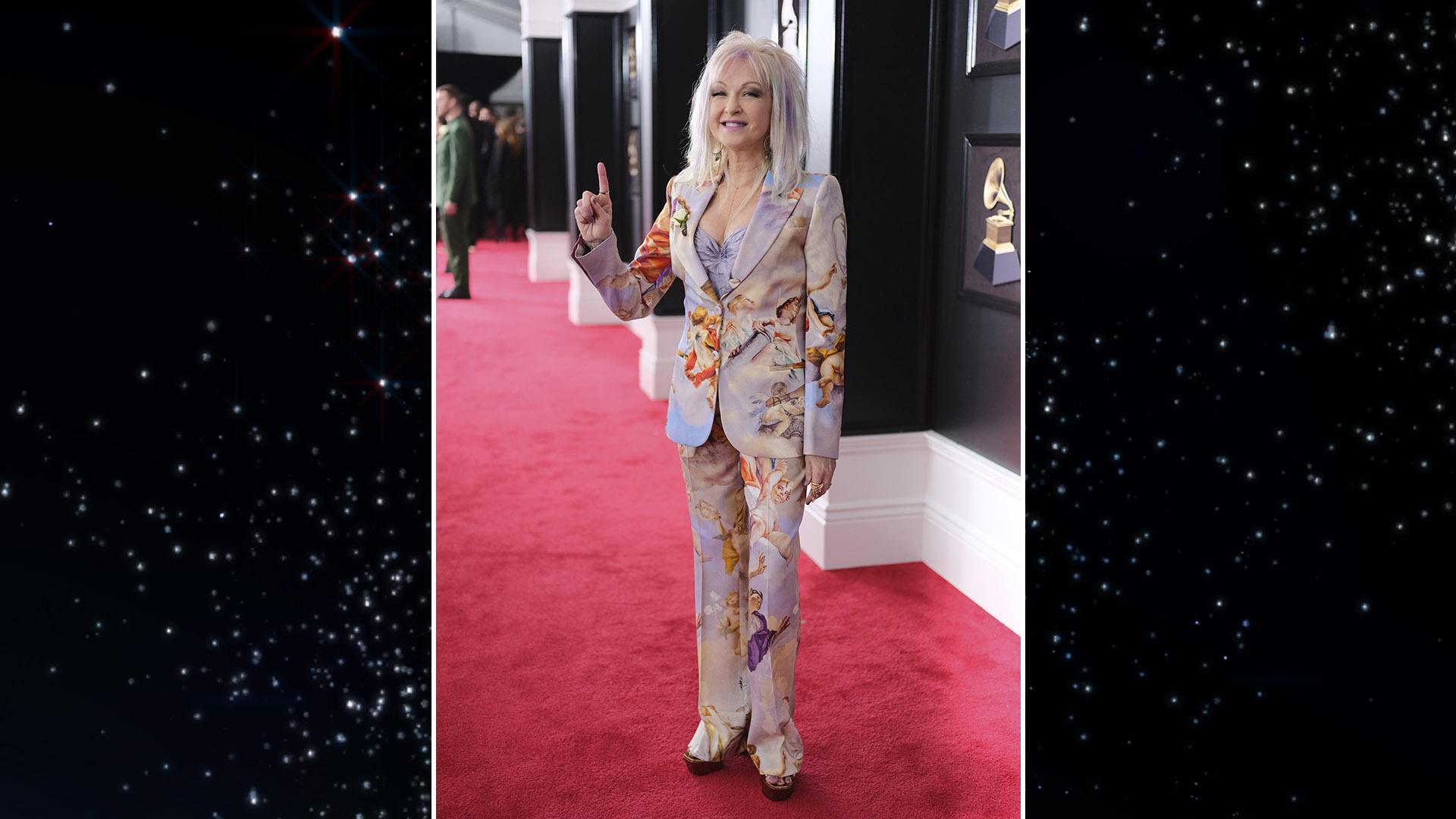Pop legend Cyndi Lauper showed her