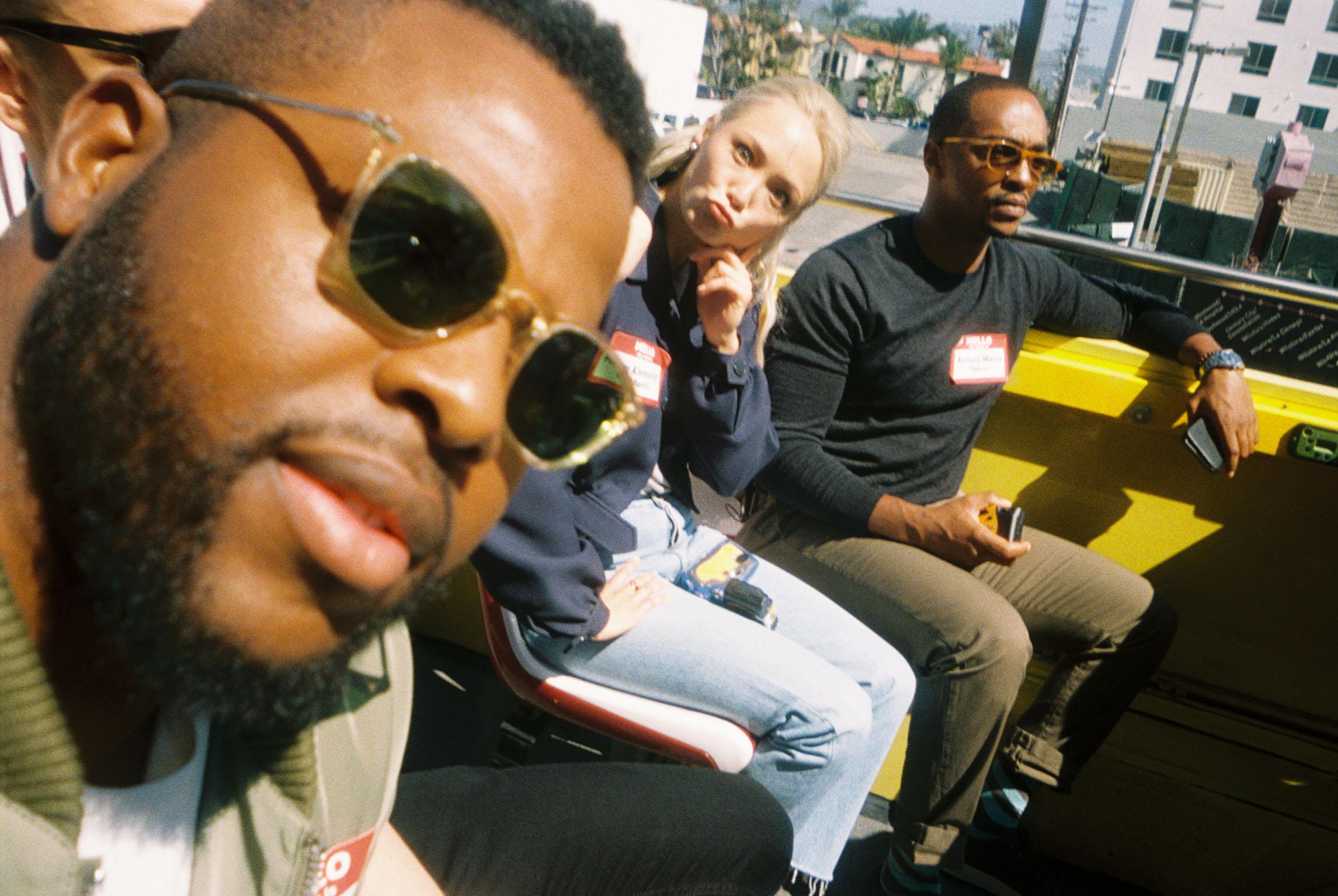 Winston Duke, Pom Klementieff and Anthony Mackie