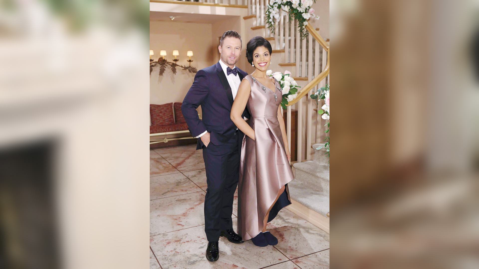 Rick Forrester (Jacob Young) and Maya Avant (Karla Mosley) look remarkable in their wedding attire.