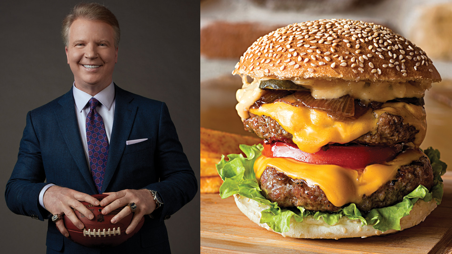 Phil Simms says burgers are best.