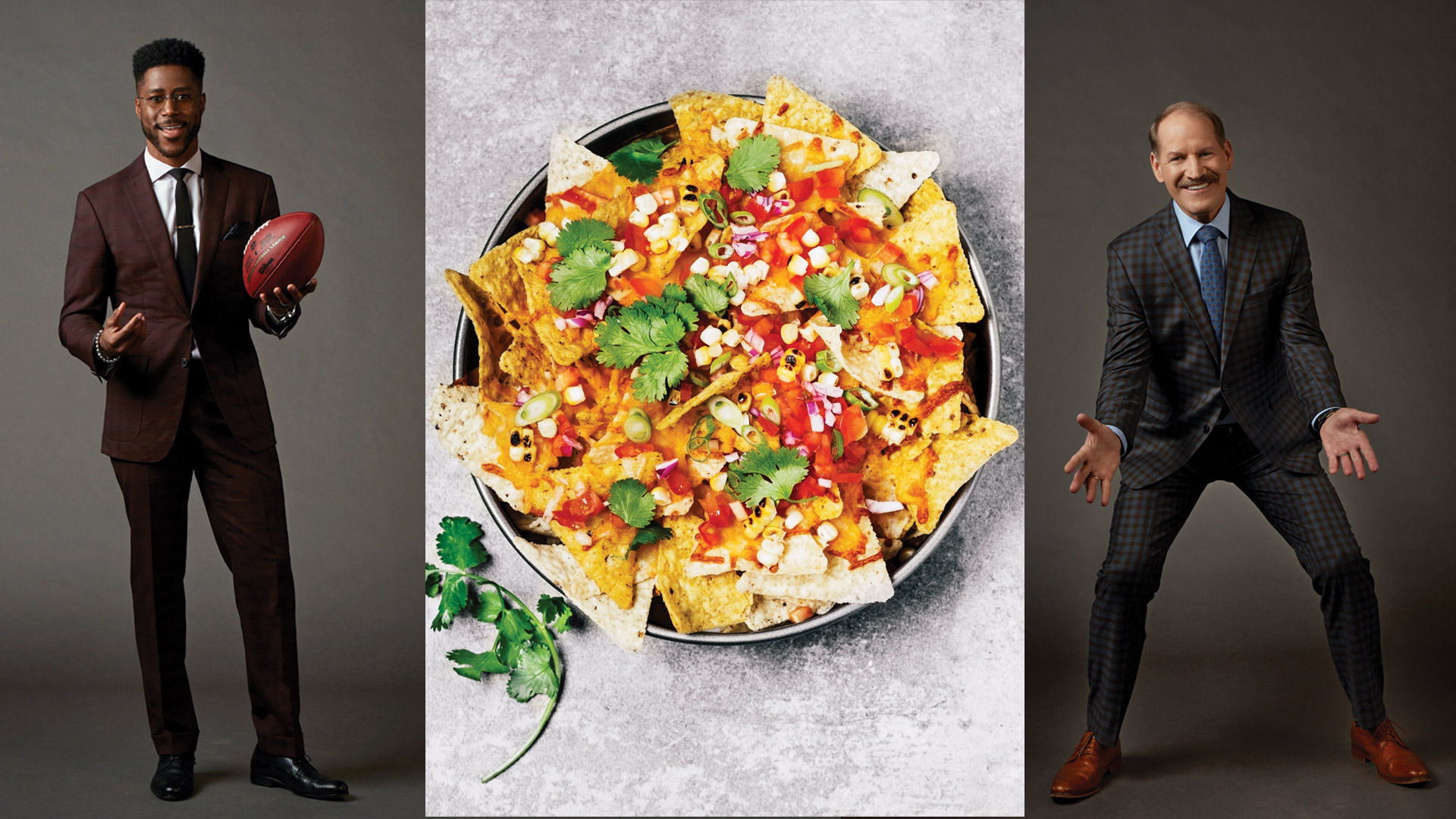 Nate Burleson and Bill Cowher agree. Fully loaded nachos are the way to go.