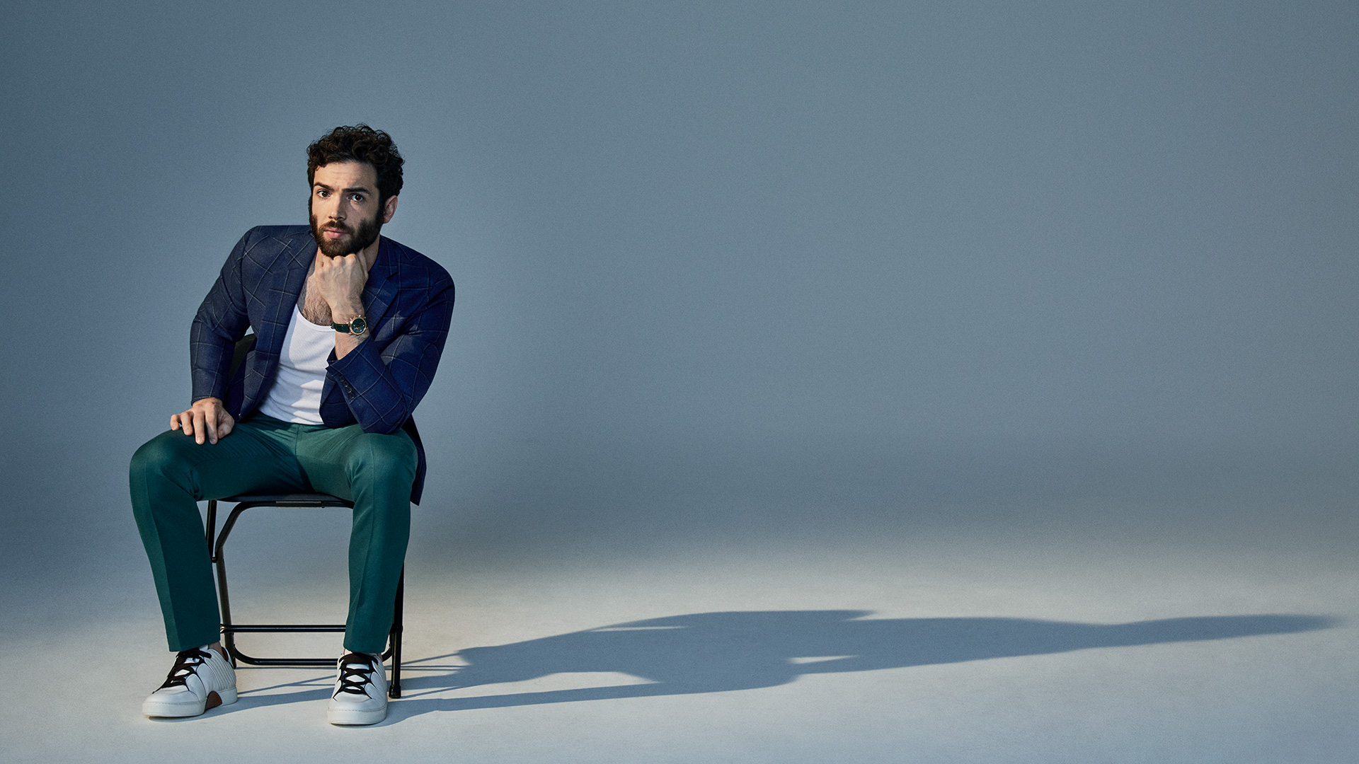 Ethan Peck learned the importance of punctuality early