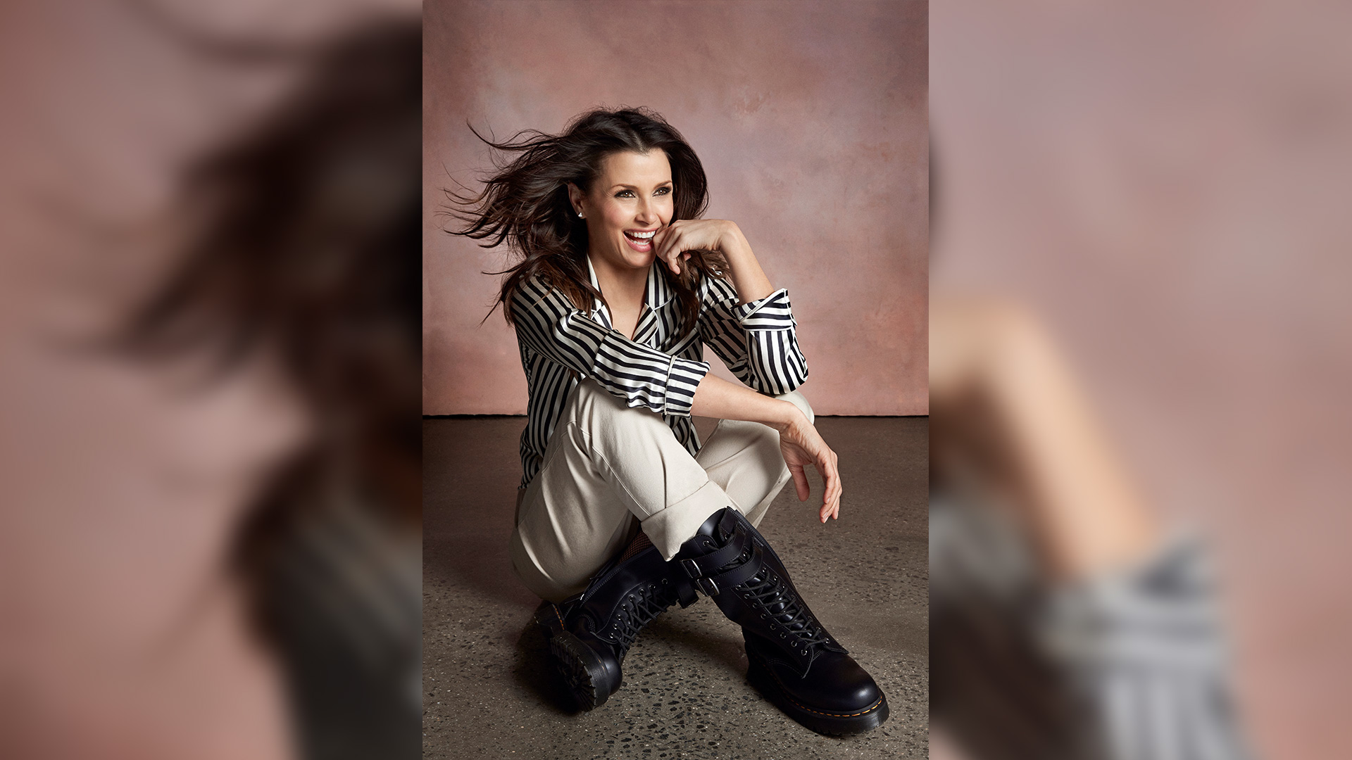 Bridget Moynahan is bookish about shoes