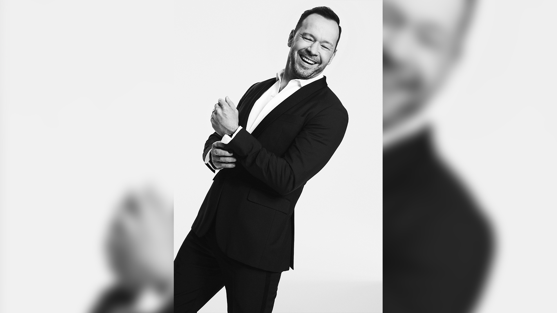 Donnie Wahlberg likes to laugh