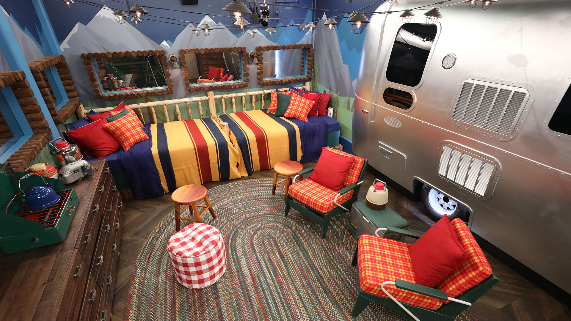 The first bedroom is all about that classic camping feel