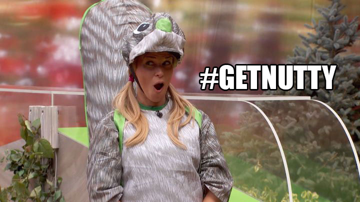 The Houseguests get nutty during the POV competition.