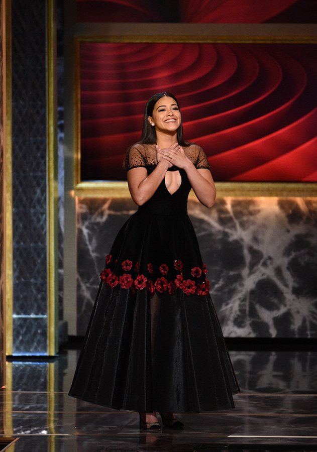 Actress Gina Rodriguez honors Rita Moreno with a spoken tribute.