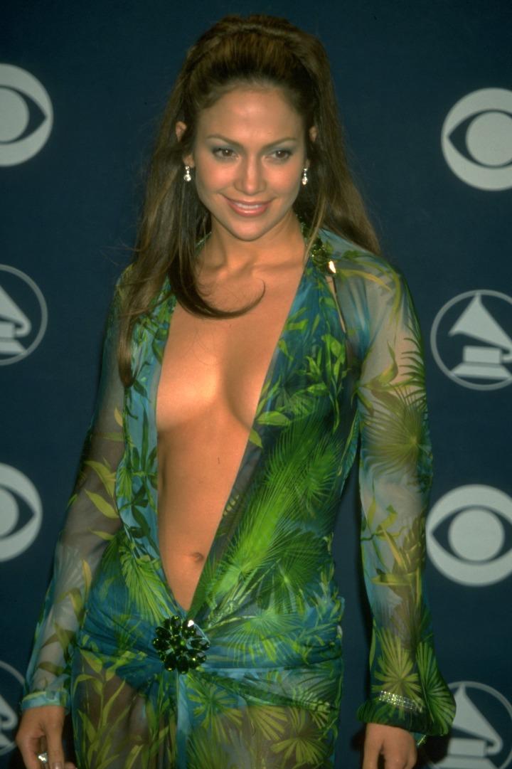 Jennifer Lopez's revealing, tropical dress made heads explode.
