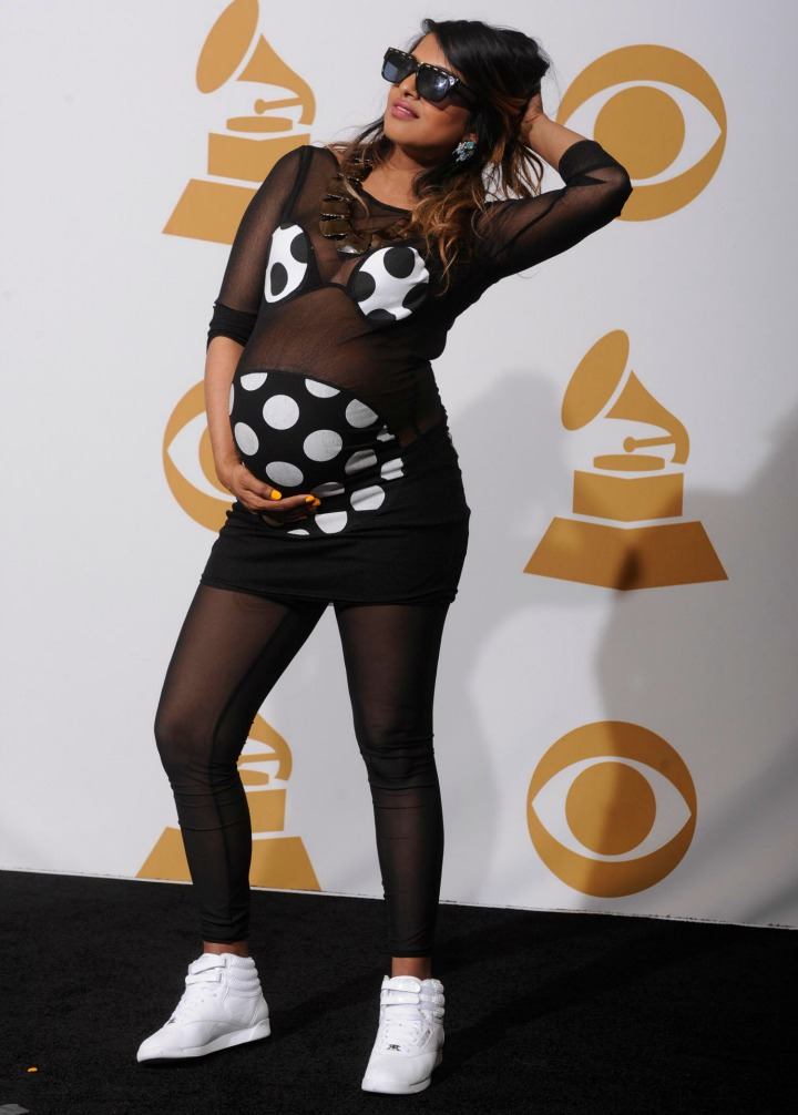 M.I.A. was about to pop during her