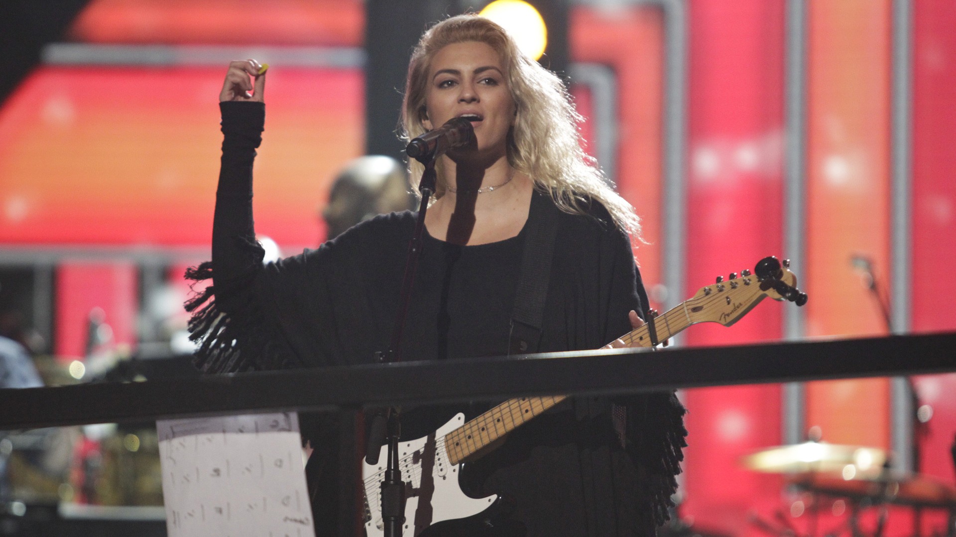 Tori Kelly, who was nominated for Best New Artist in 2016, rehearses her set for Music's Biggest Night®.
