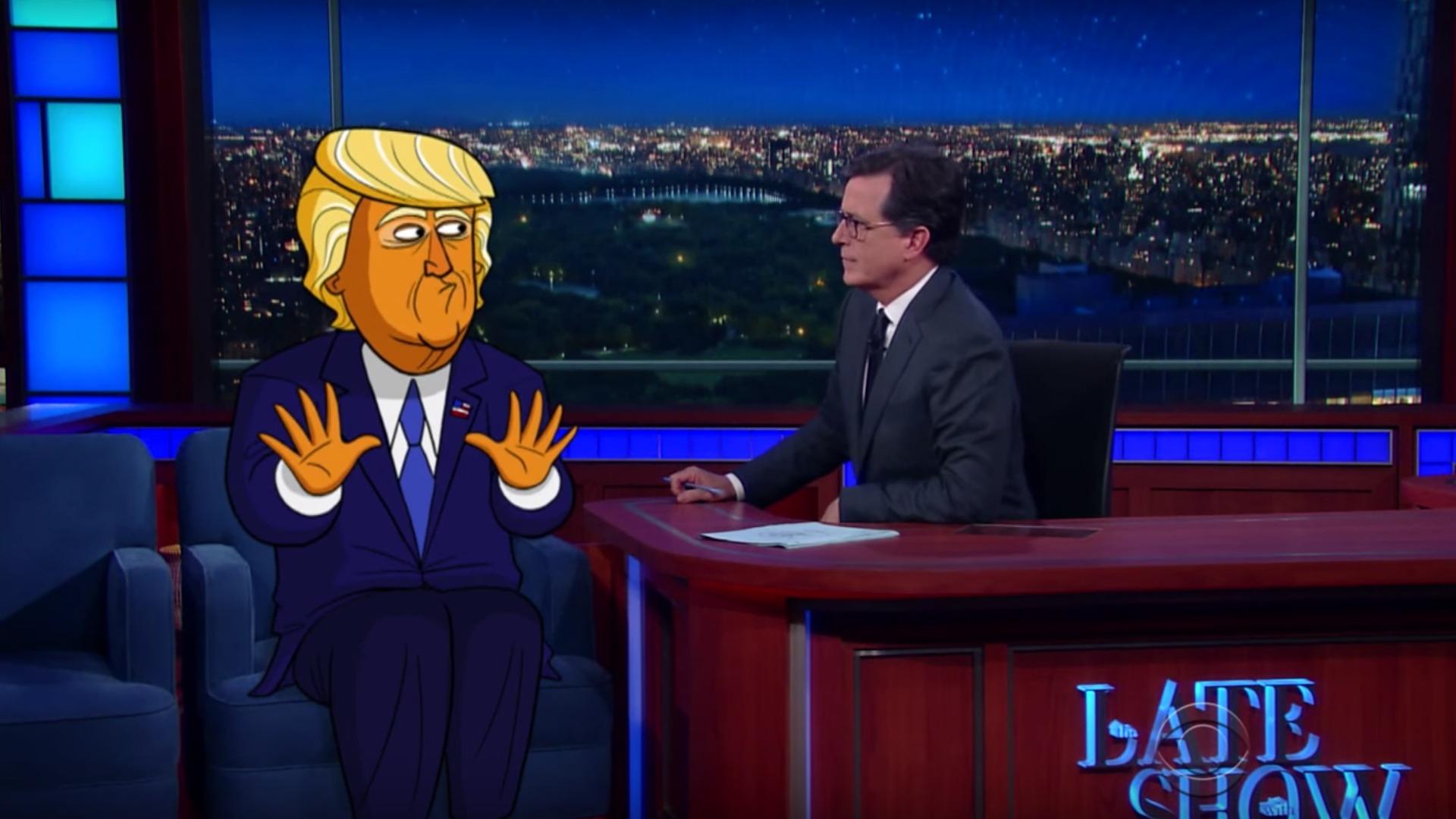 A: Cartoon Trump!