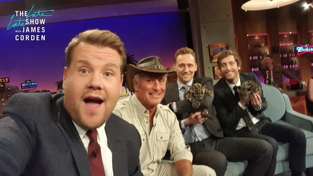 Jack Hanna, Tom Hiddleston and Thomas Middleditch