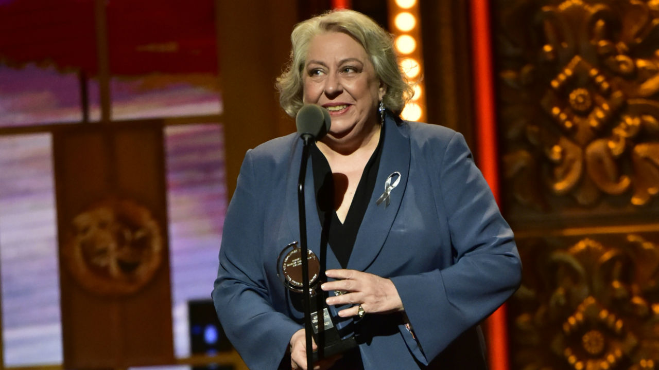 Jane Houdyshell wins the 2016 Tony Award for Best Performance by an Actress in a Featured Role in a Play.