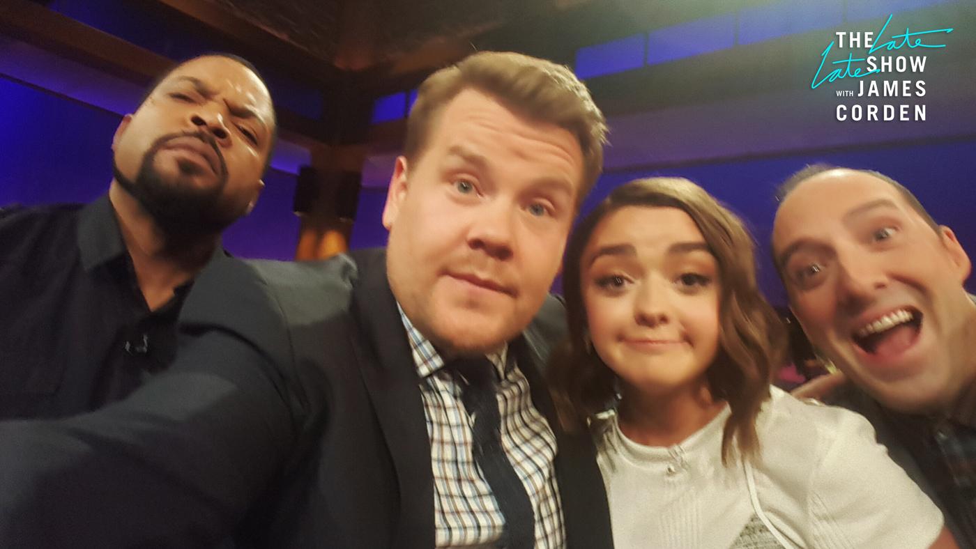 Ice Cube, Maisie Williams and Tony Hale