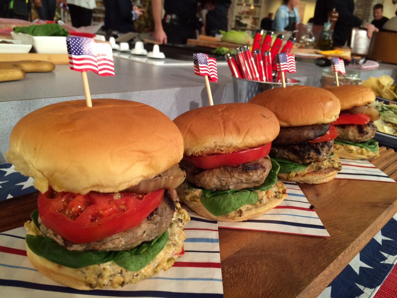 David Guas taught us to make some healthy burgers