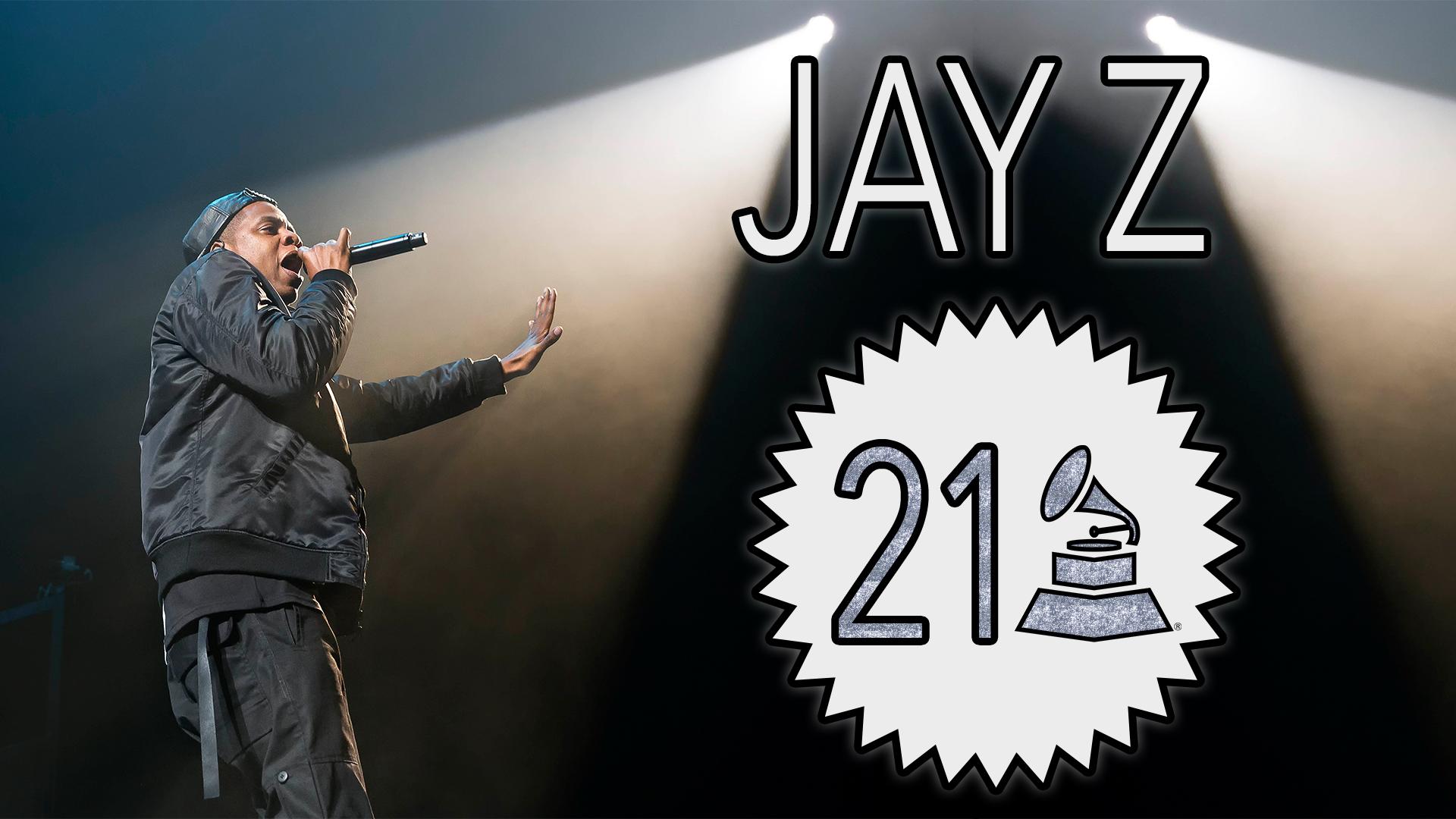 Jay Z with 21 GRAMMY Awards