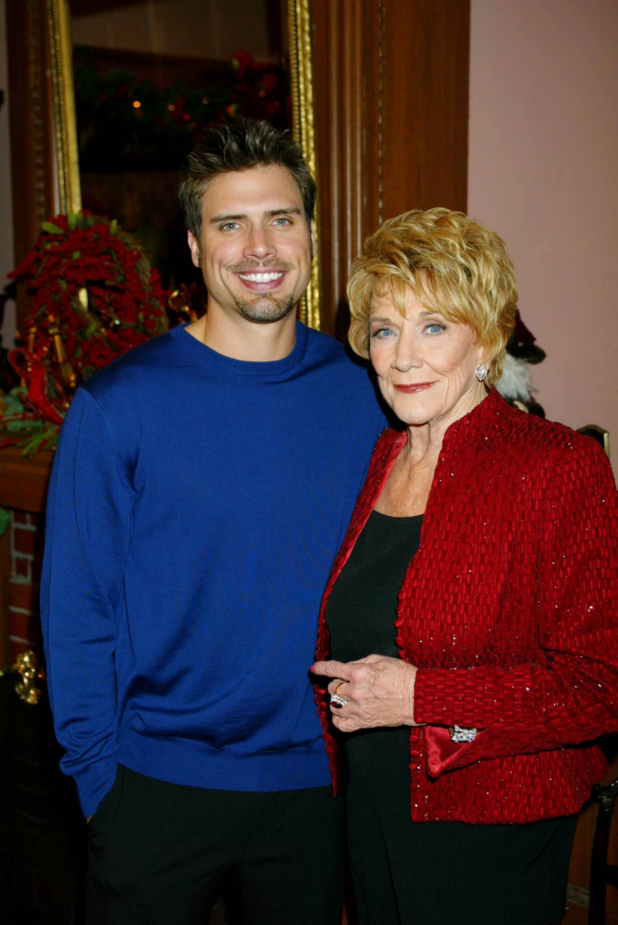 Posing with Joshua Morrow
