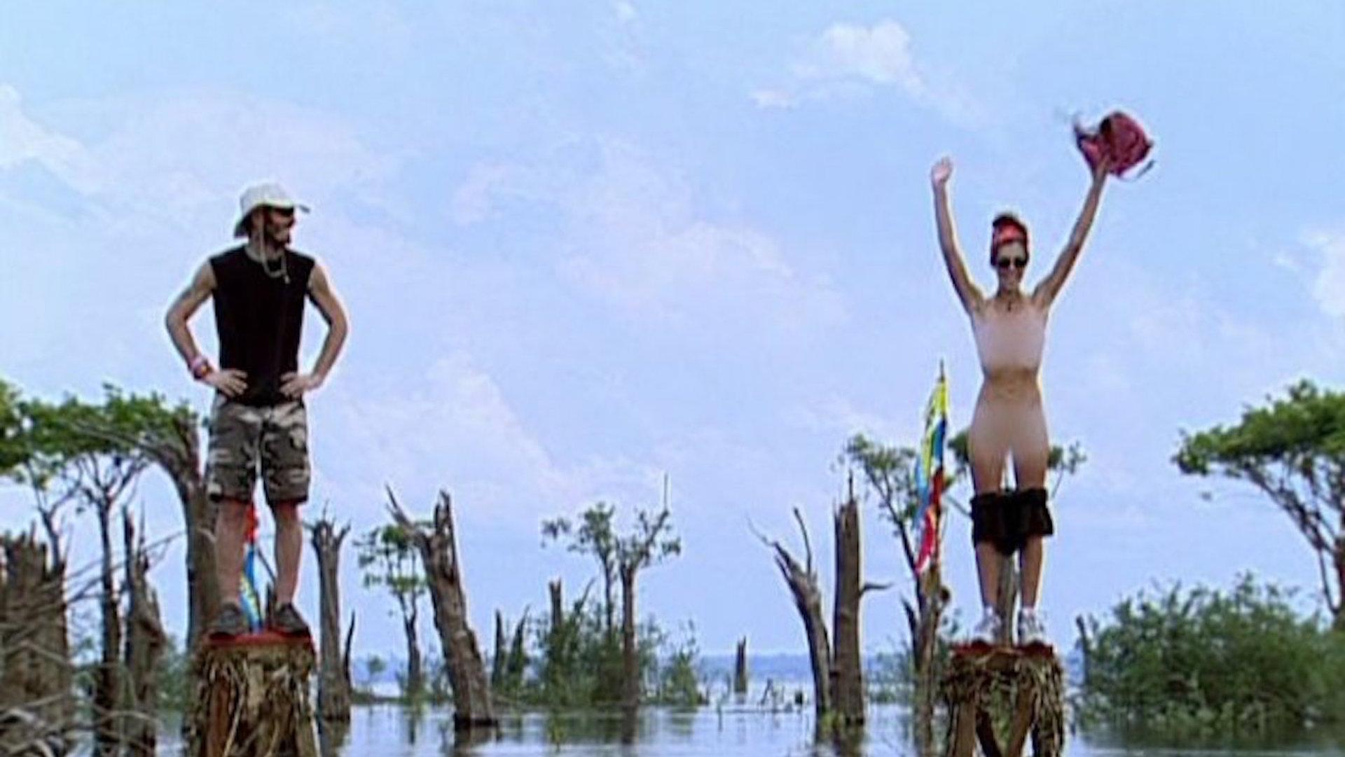 Jenna Morasca and Heidi Strobel take it all off on Survivor: The Amazon