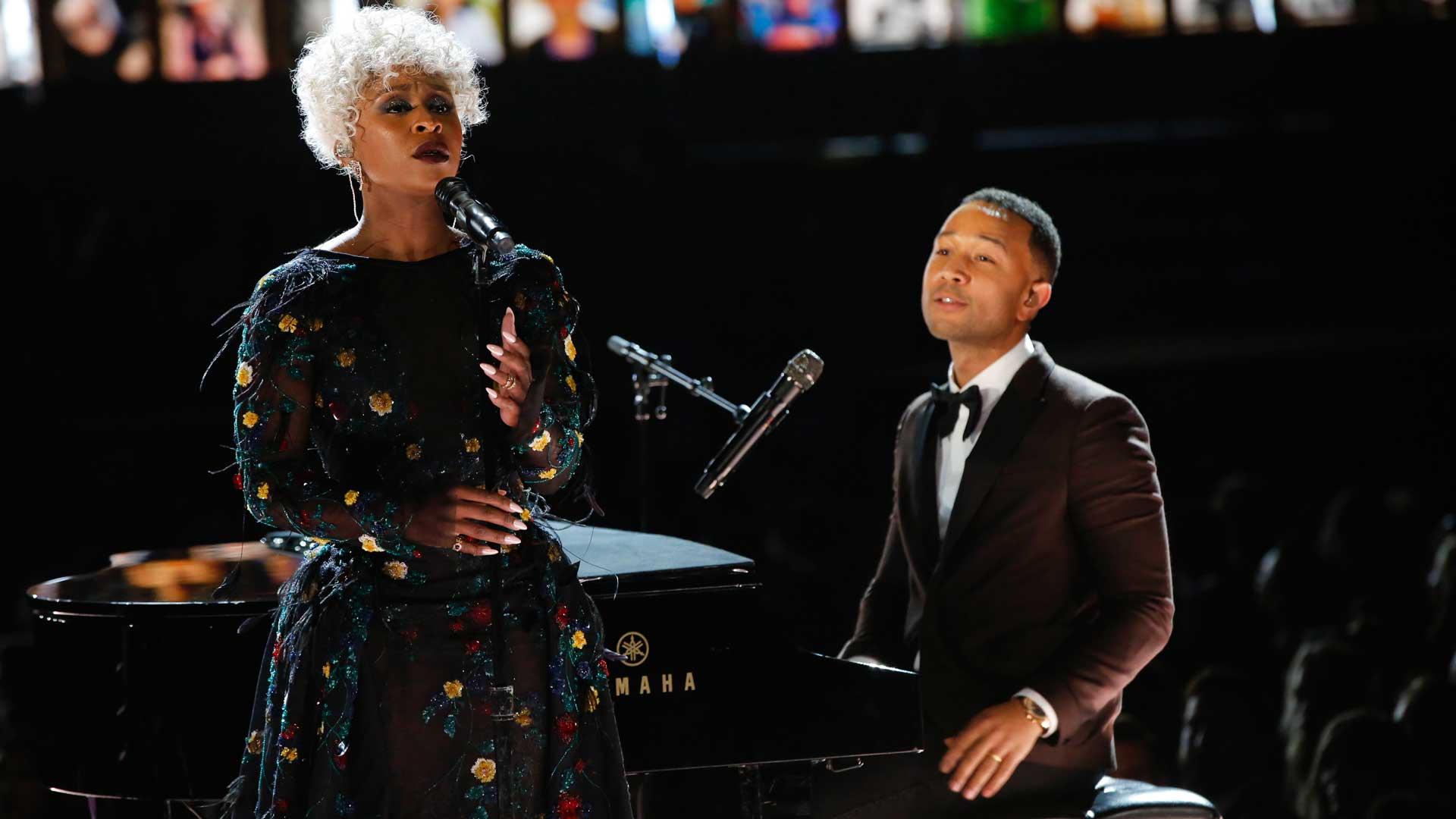 John Legend and Cynthia Erivo perform