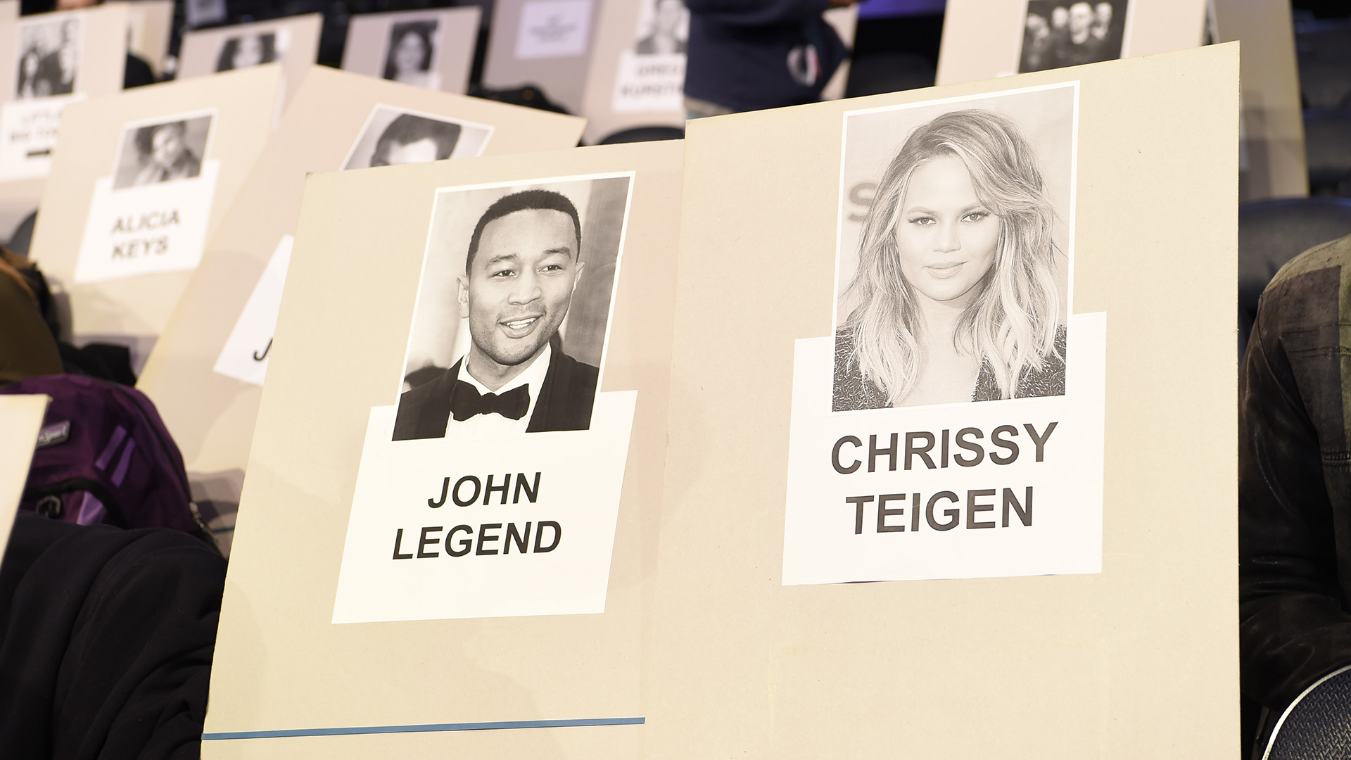 Here's where John Legend and Chrissy Teigen will take their seats on Music's Biggest Night®.