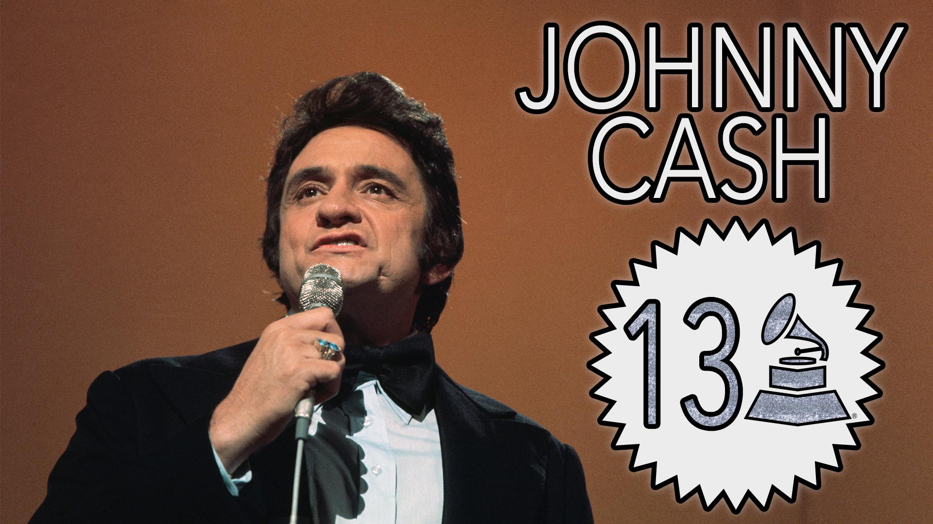 Johnny Cash with 13 GRAMMY Awards