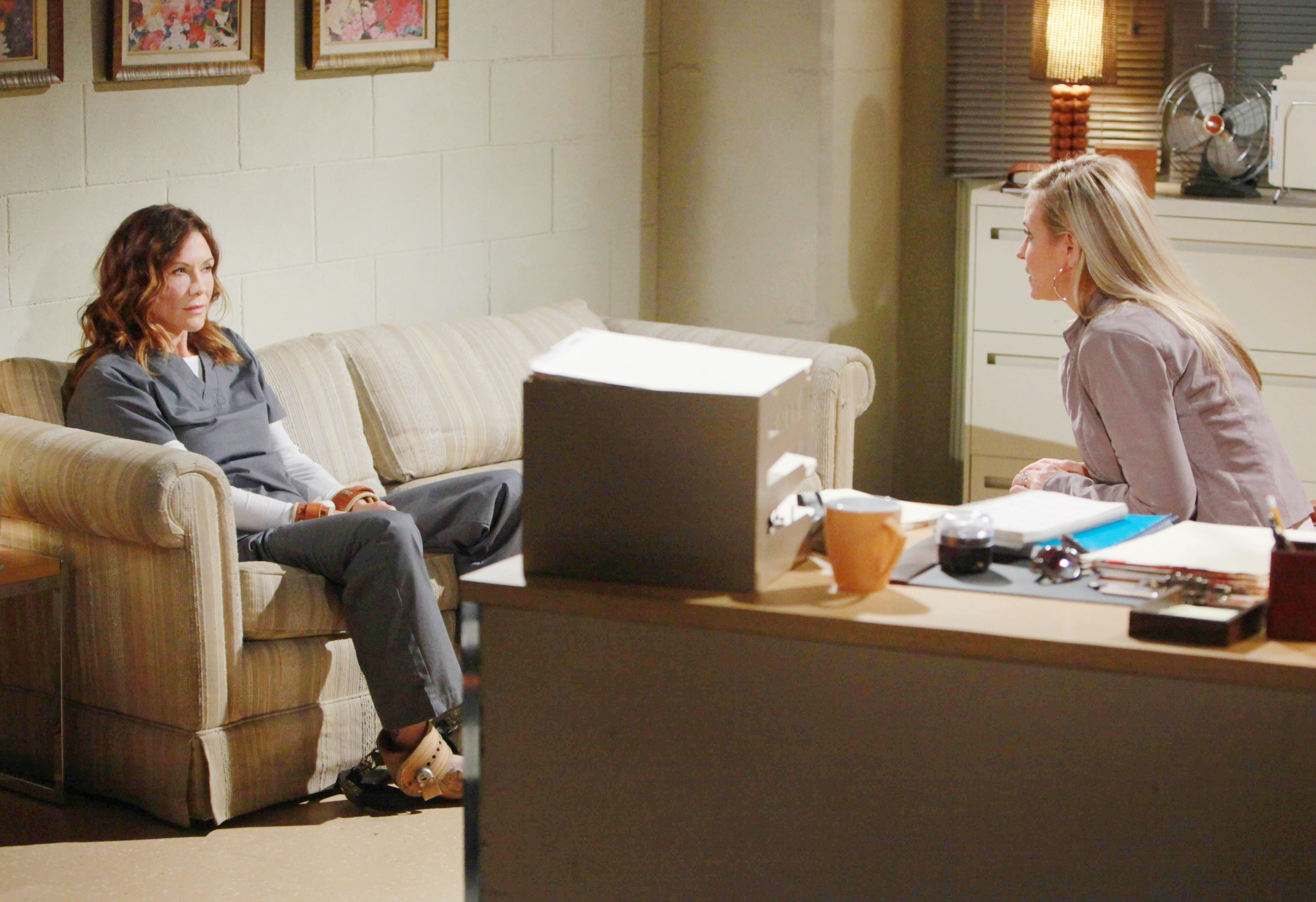 Sharon is forced to visit Patty.