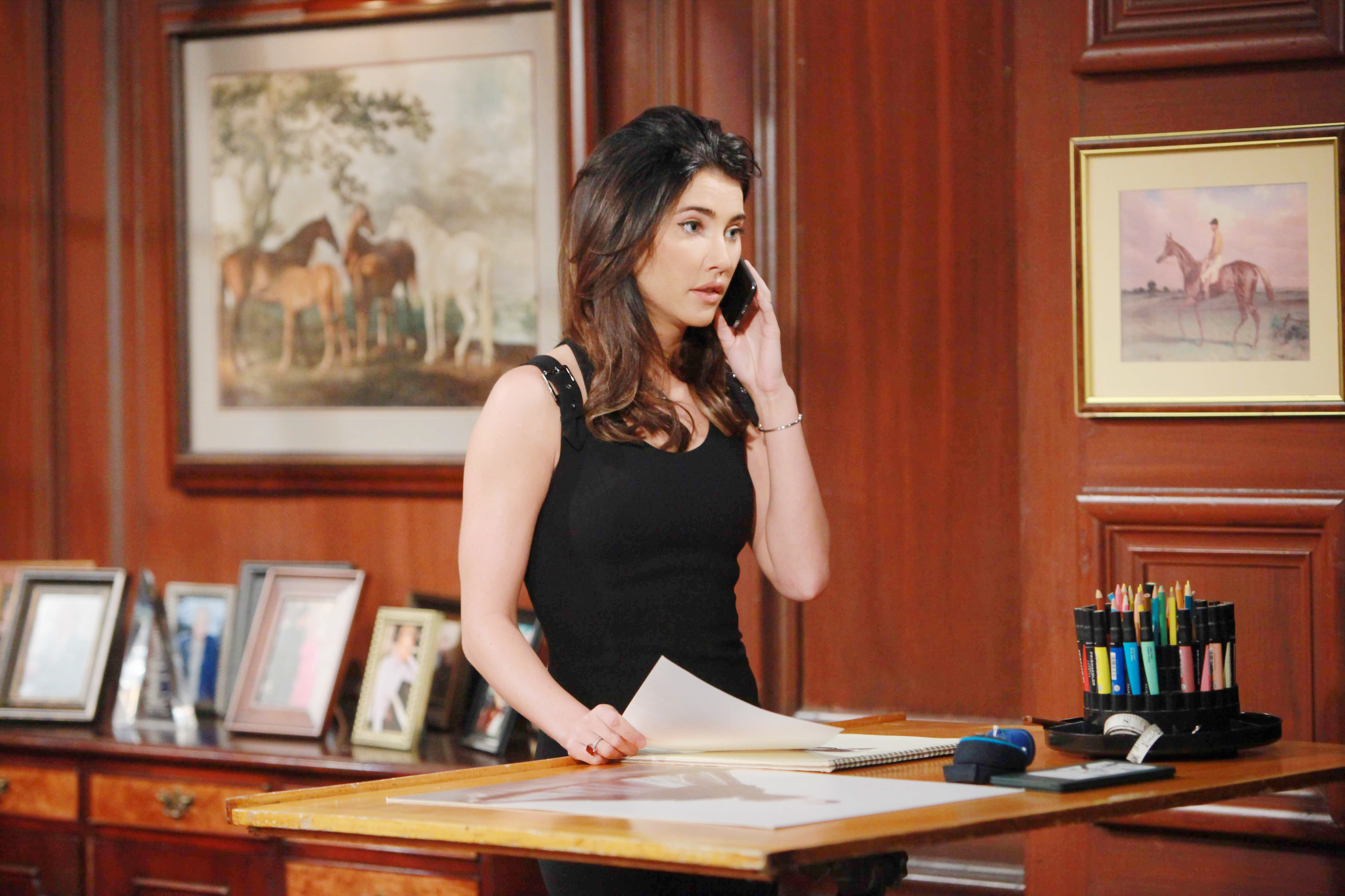 Steffy becomes determined to find a loophole that will free her family of Quinn.