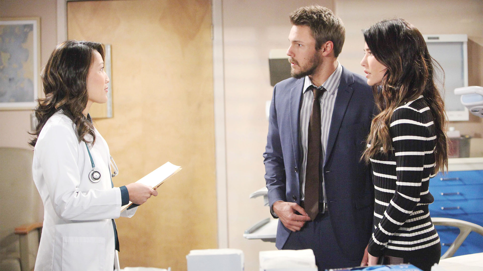 Steffy and Liam receive life-altering news that causes him excitement and her, concern.