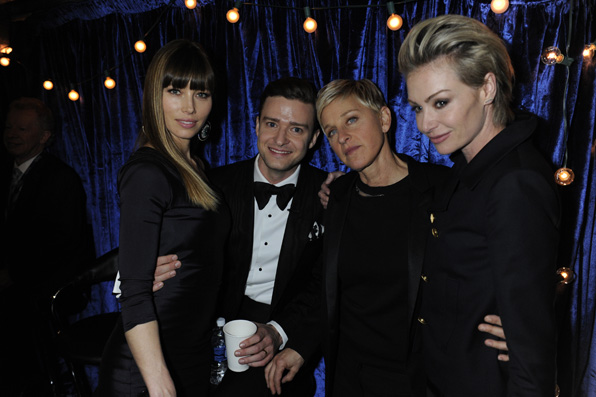 20. Jessica Biel, Justin Timberlake, Ellen Degeneres, Portia DeRossi