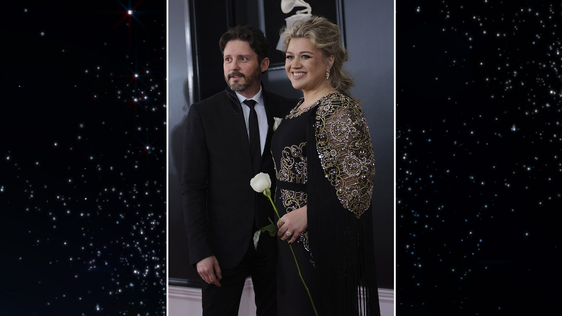 Before presenting the GRAMMY award for Best New Artist, Kelly Clarkson took a photo with her main squeeze, husband Brandon Blackstock.