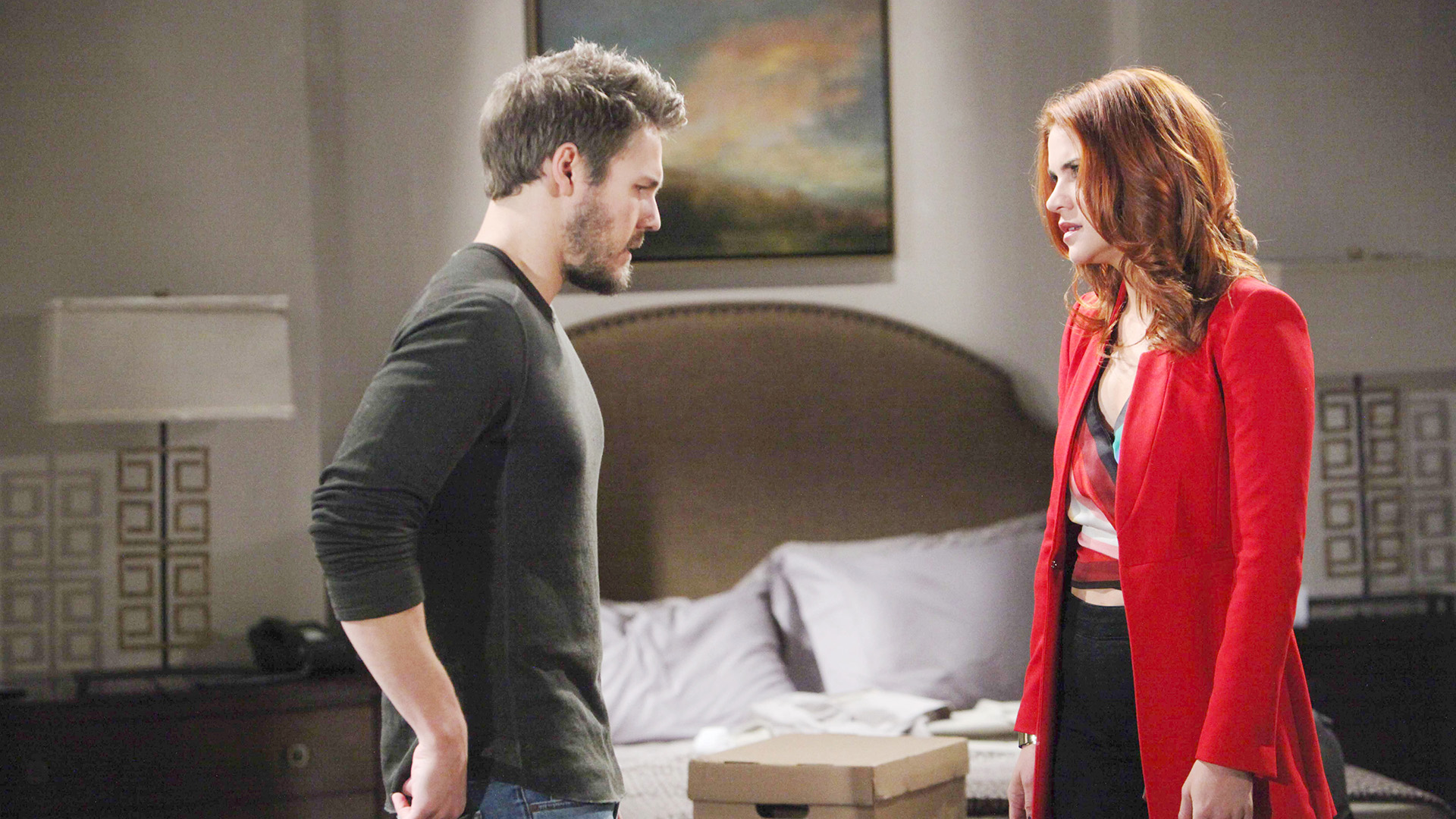 Concerned by Liam's sudden change in demeanor, Sally presses him for information. Sally refuses Liam's request to give him time alone and offers to be there for him in his time of need.