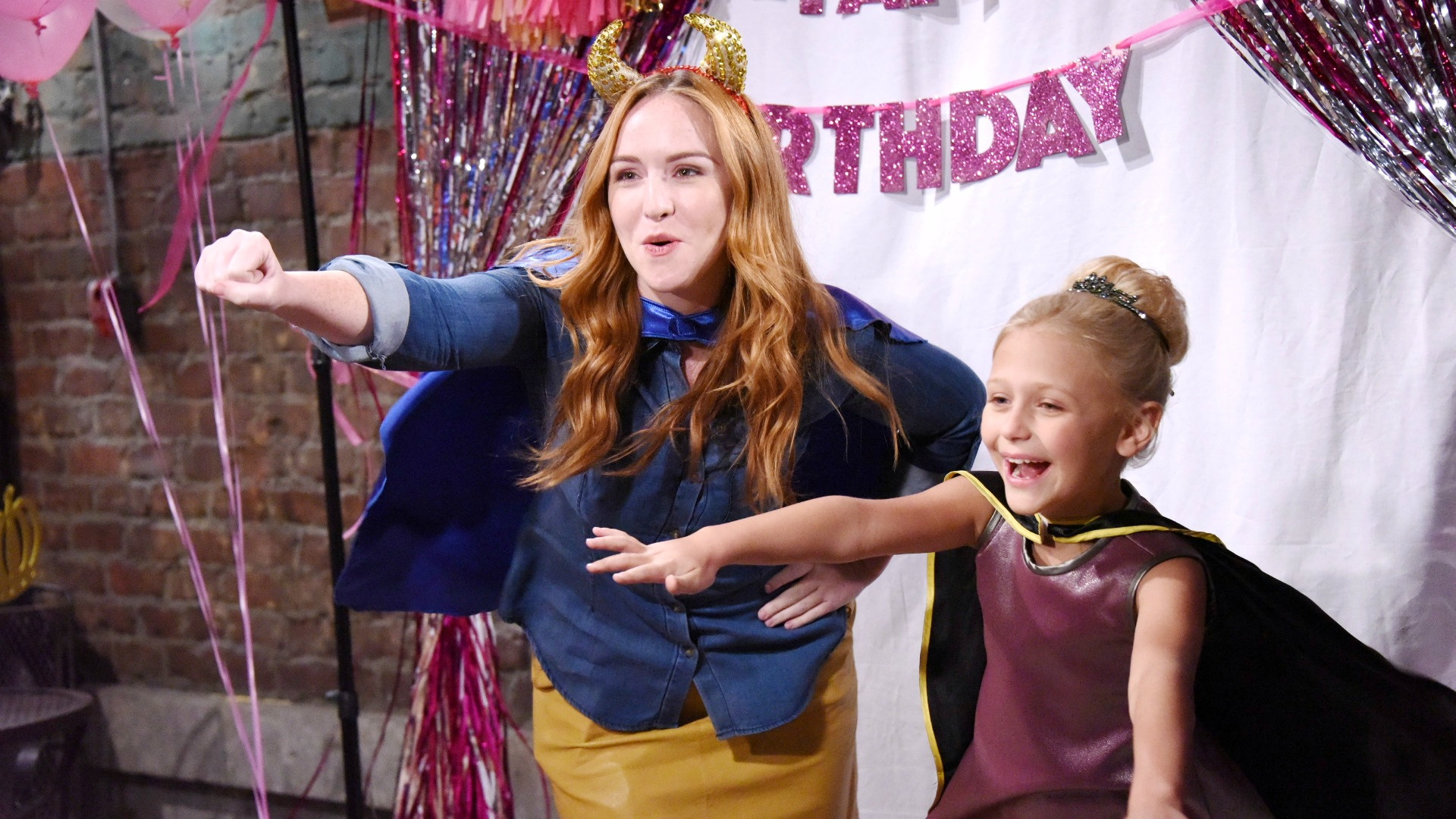 Mariah and Faith were having a blast!