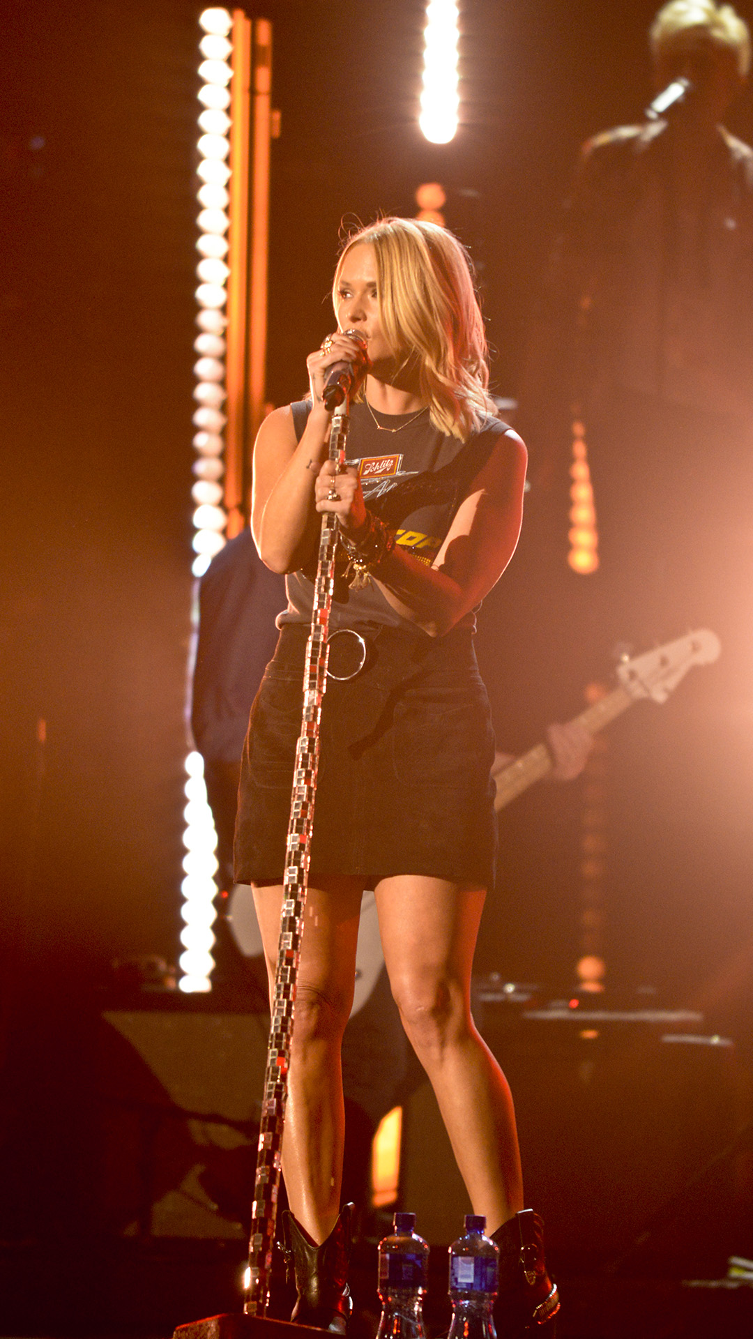 Miranda Lambert runs through her performance before the 2016 ACM Awards.