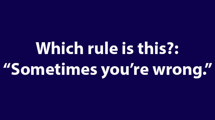8. Which rule is this?: