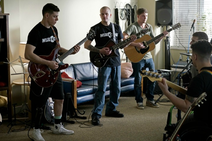 The MusiCorps band practices.