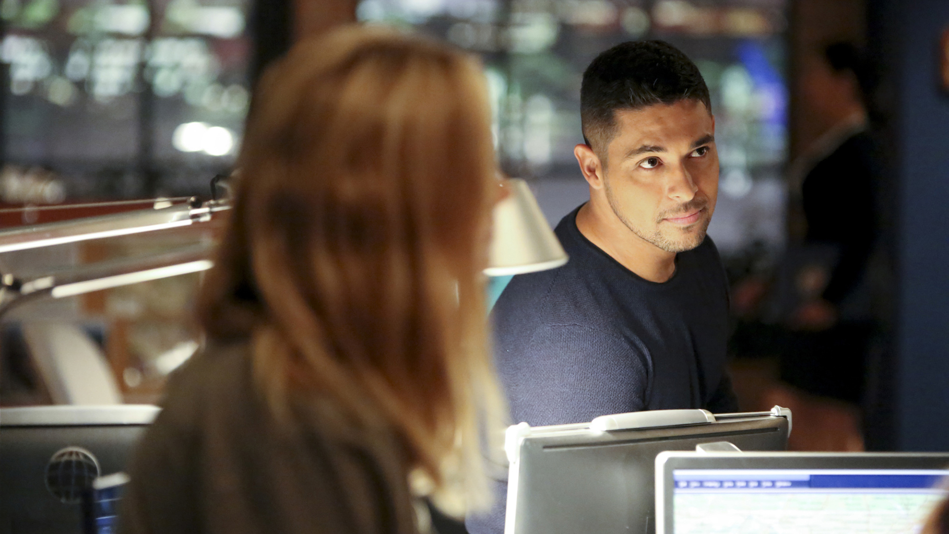 Torres seems right at home in the NCIS squad room.
