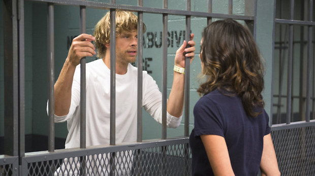 When Kensi stood behind Deeks.