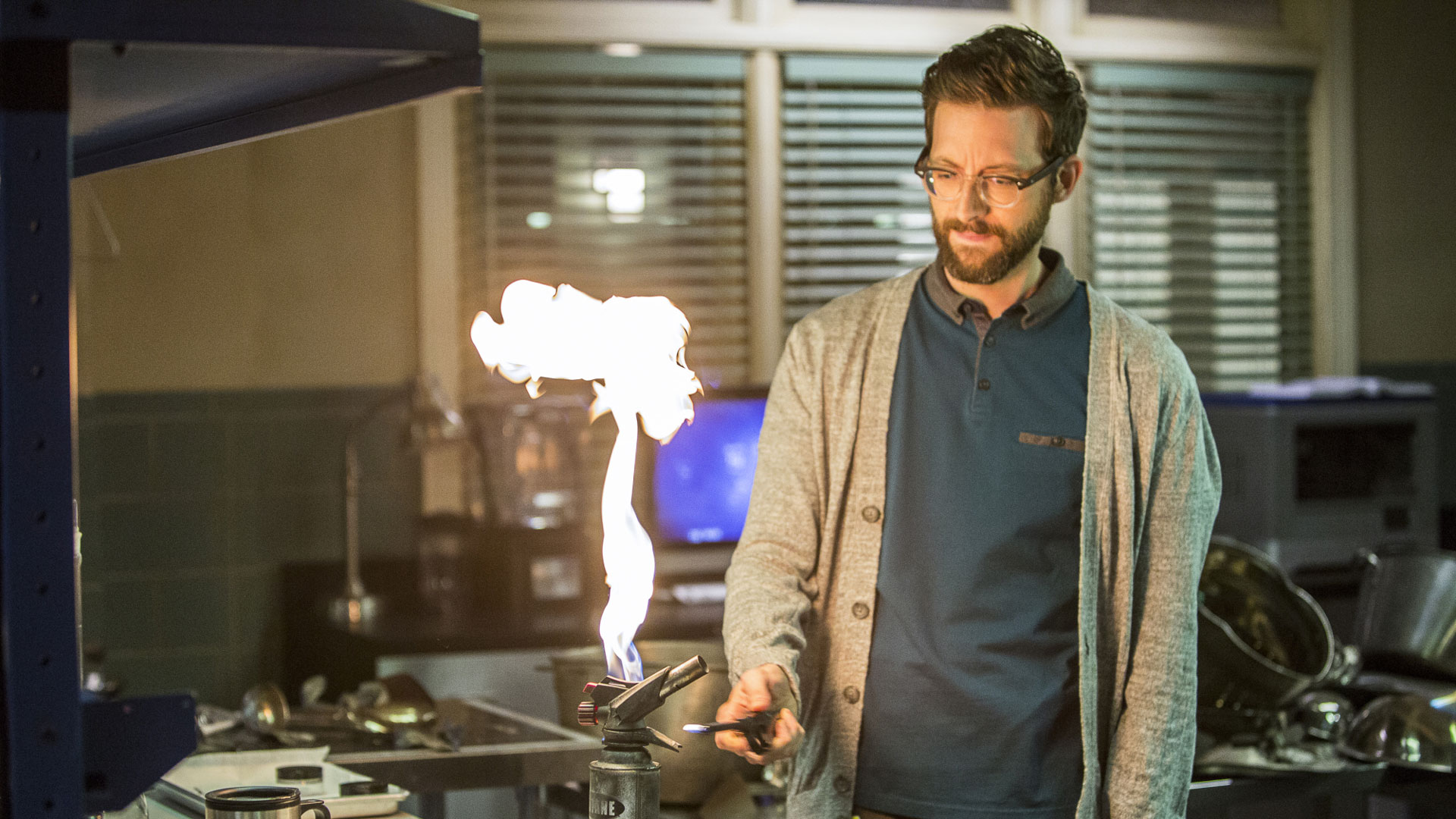 Sebastian Lund plays with fire.