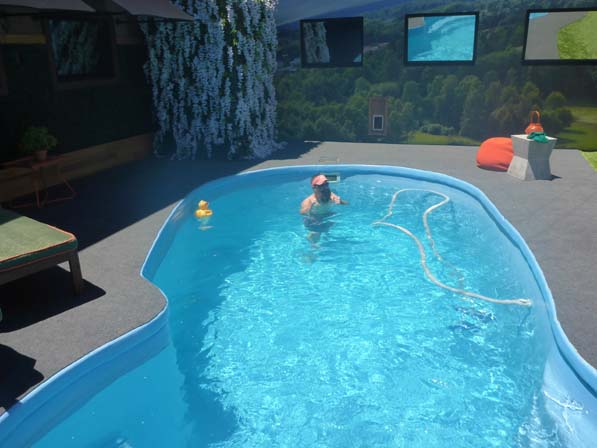 Donny in the pool