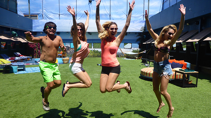 Being HoH makes Liz & Co. jump for joy