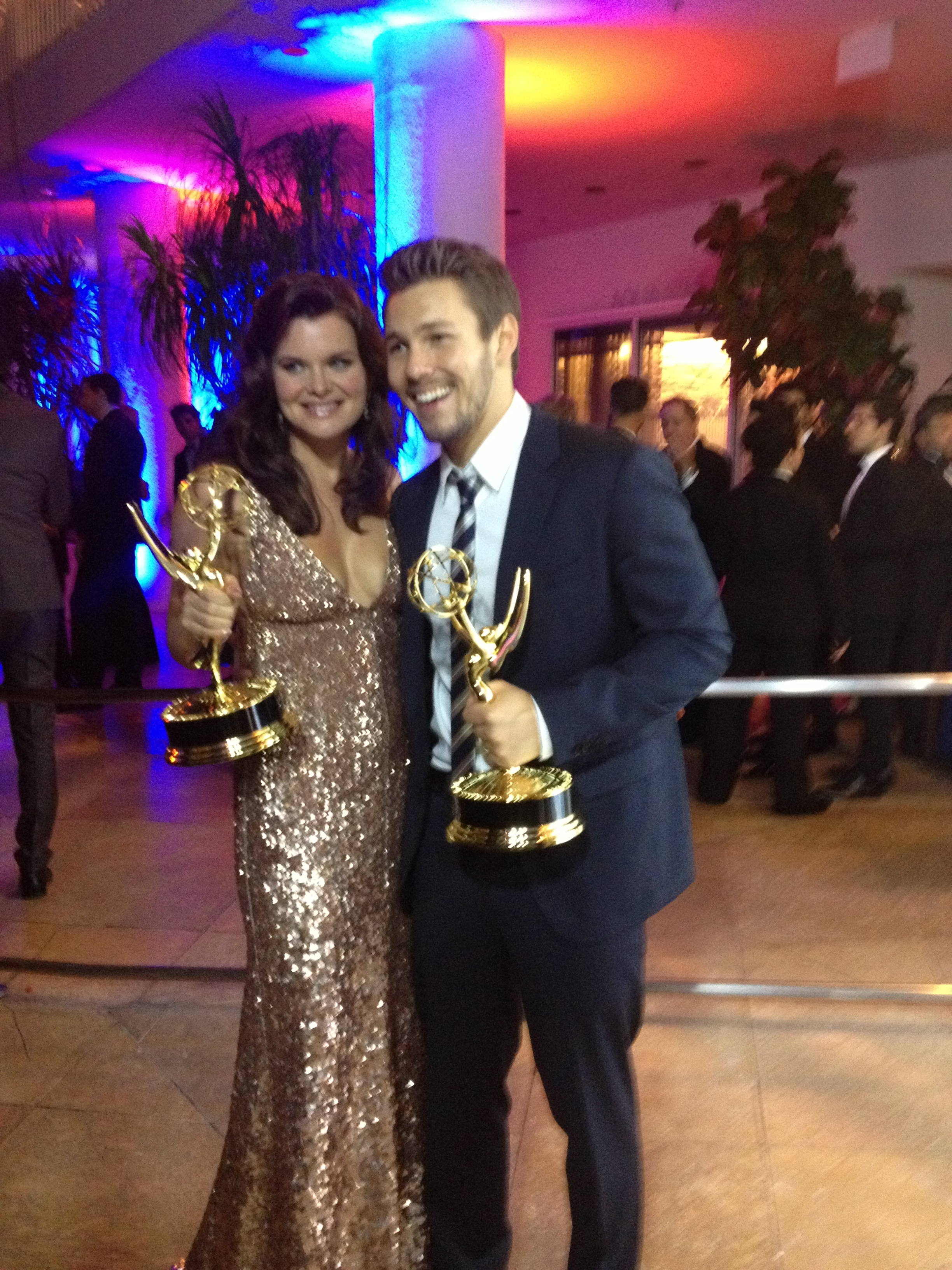 Heather Tom and Scott Clifton