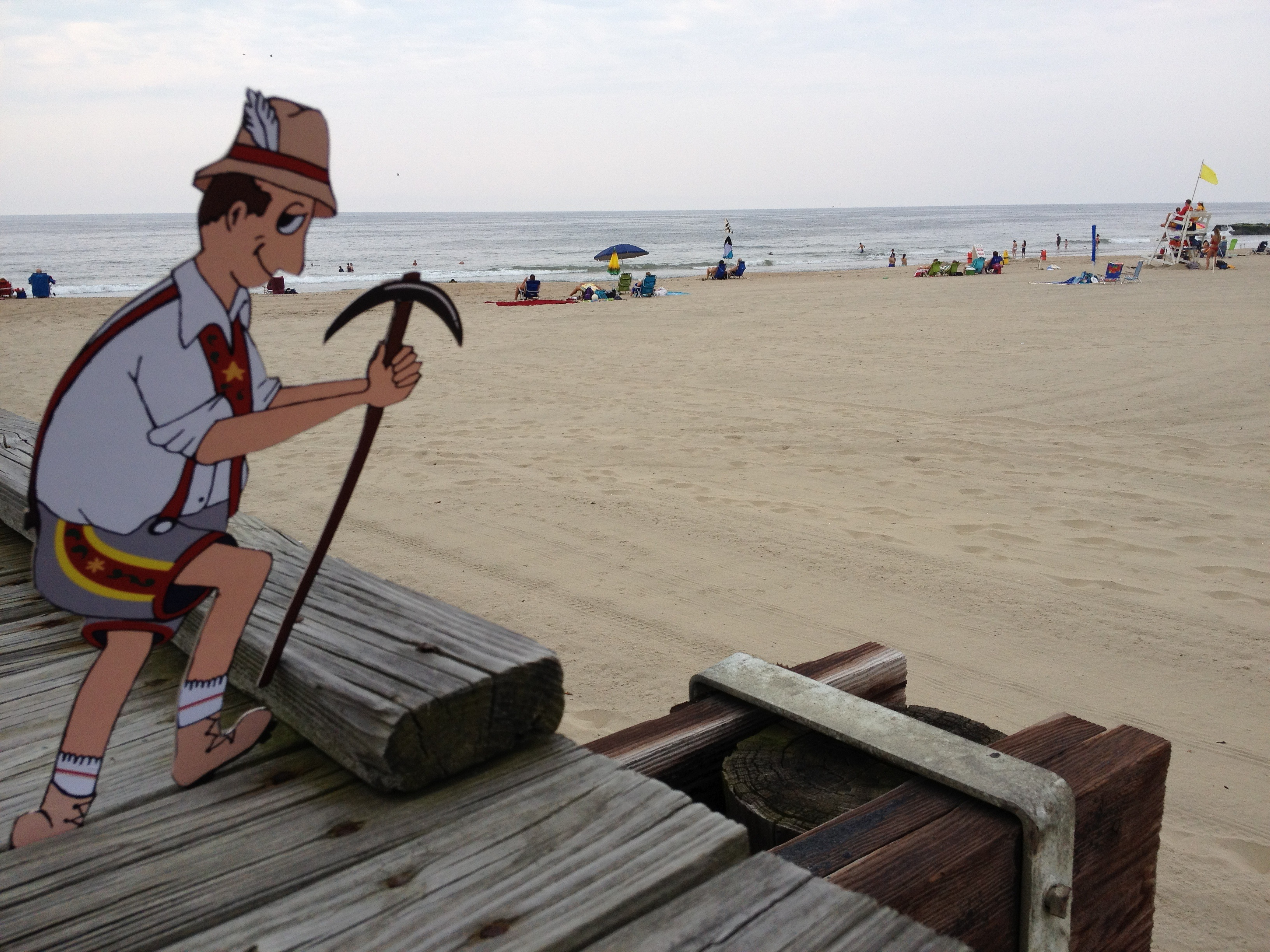 Yodely Guy at the Jersey Shore