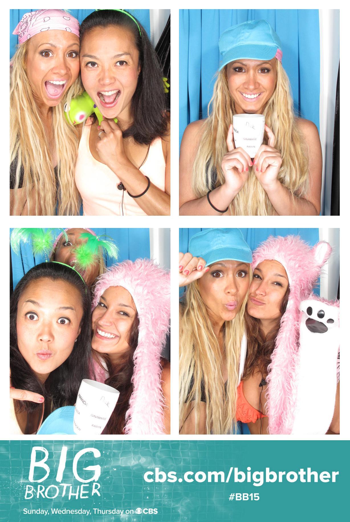 Having fun in the Photo Booth