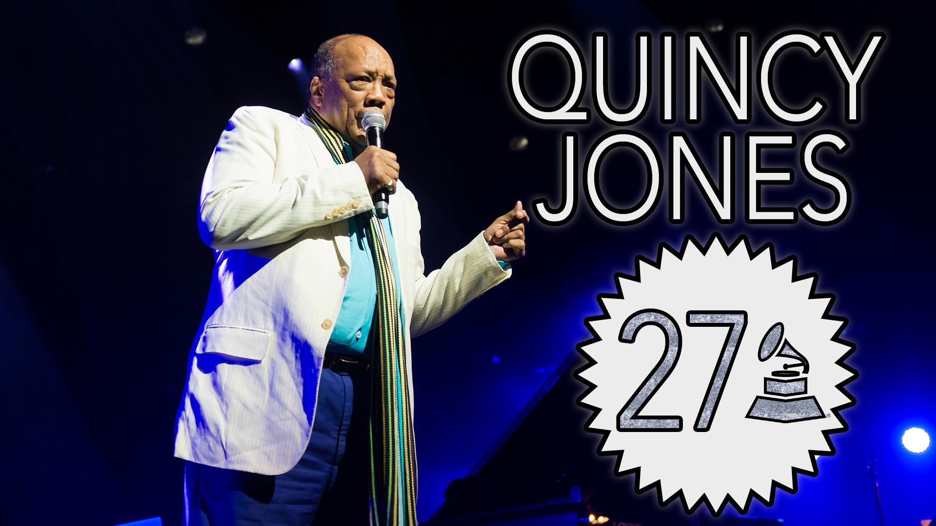 Quincy Jones with 27 GRAMMY Awards