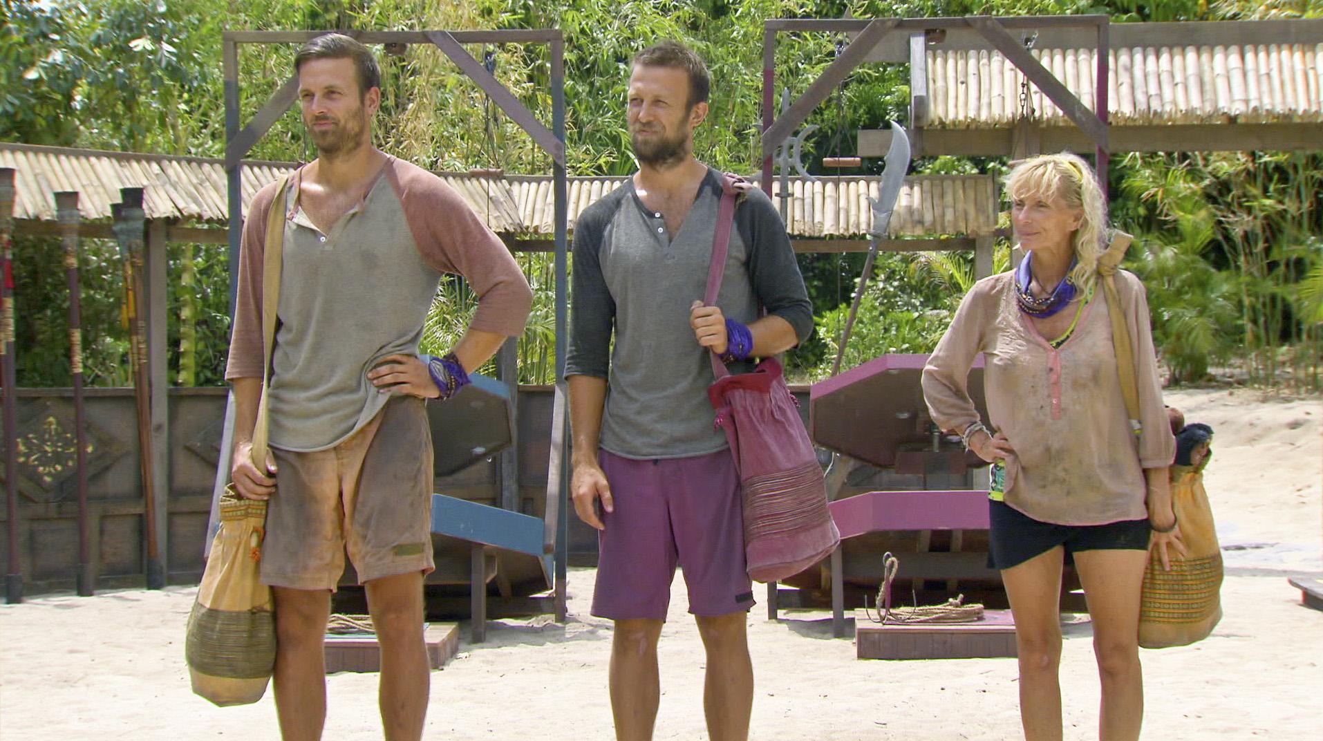 Aras, Vytas and Tina in Season 27 Episode 10