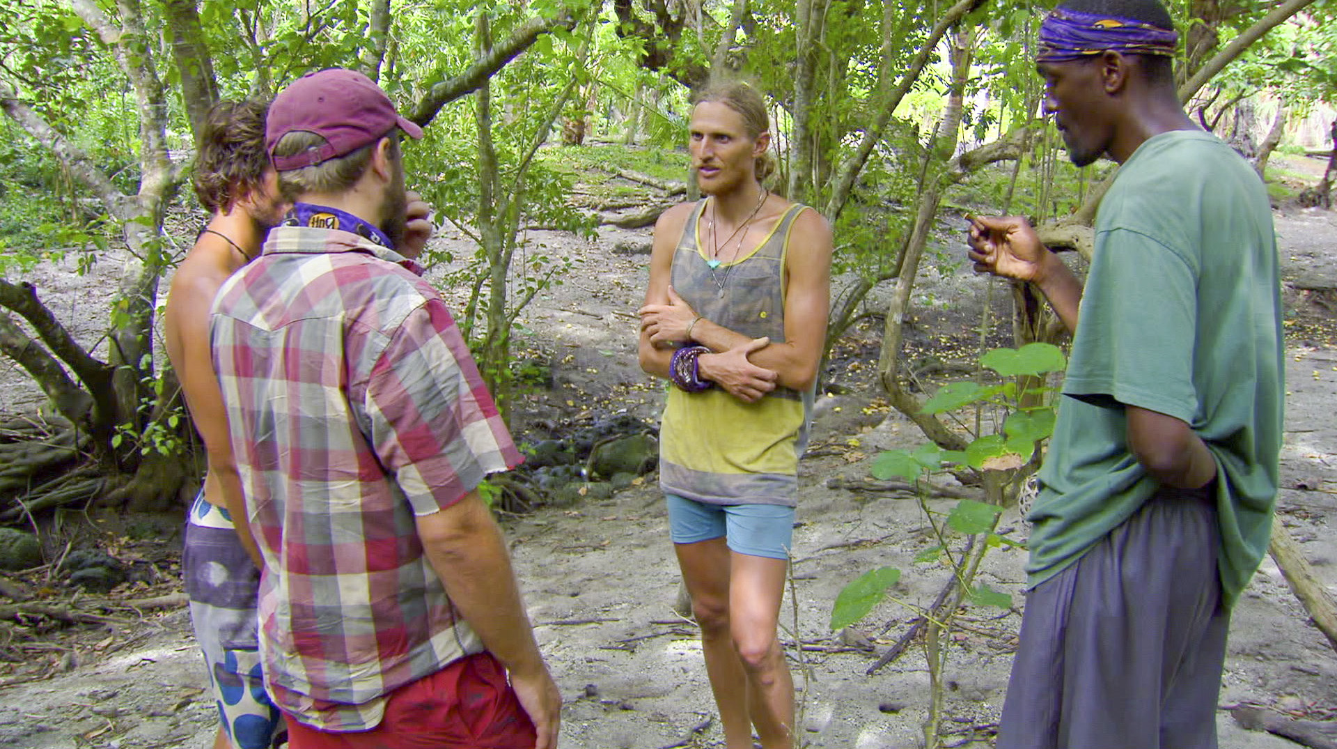 Hyaden, Caleb, Tyson and Gervase in Season 27 Episode 11