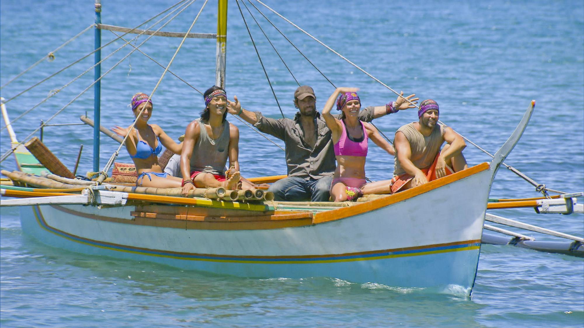 On a boat in Season 28 Episode 6