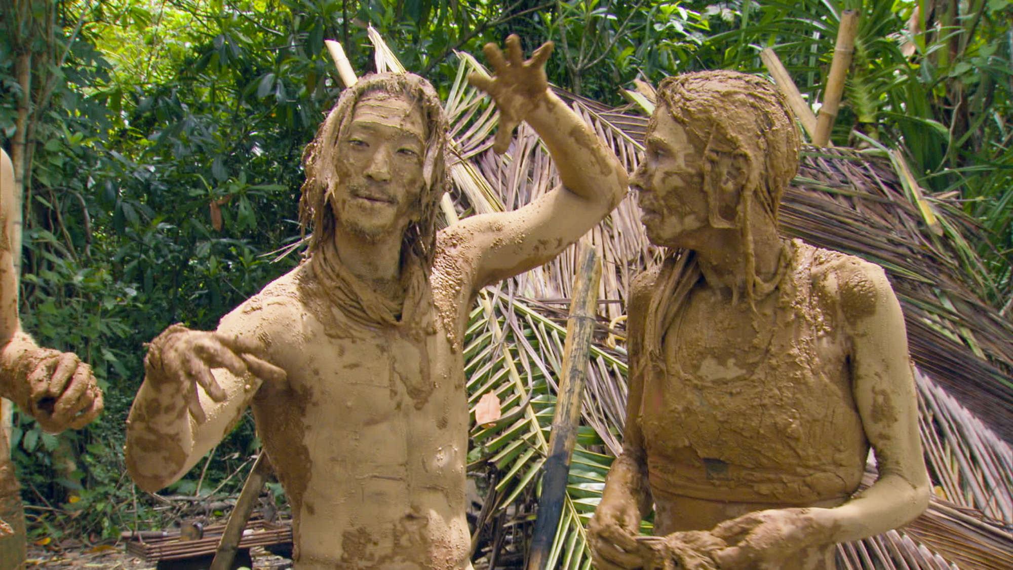 Covered in mud in Season 28 Episode 12